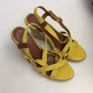 Yellow Banana Republic Wedges